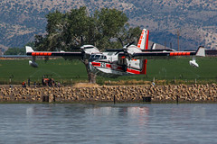 Bombardier CL- 425 Tanker Landing (Jeffrey Sullivan) Tags: topaz lake firefighting air tanker aircraft airplane sea plane landing preacherfire coleville monocounty california gardnerville douglascounty nevada usa eastern sierra landscape nature travel photography canon eos 70d photo copyright 2017 jeff sullivan july 25