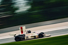 Jamie Constable in the 1974  Graham Hill Lola Cosworth T370 (speedcenter2001) Tags: roadamerica roadcourse roadracing racing race racecar racetrack motorsports elkhartlake elkhart wisconsin vintage vintageracing vehicle hawk 2017 manualfocus nikon180mmf28edais d810 panning motion speed bradhoyt hill f1 historic 1975 airbox blur colorgraded formula1 cosworth ford v8 tobacco lola t370