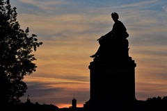 Paris (geraldineh.dutilly) Tags: seine river travel paris sunset orange colors
