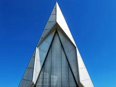 U S Air Force Academy Chapel (Colorado Sands) Tags: architecture building chapel religious colorado airforce academy sandraleidholdt coloradosprings airforceacademy landmark cadetchapel allfaith unitedstatesairforceacademy