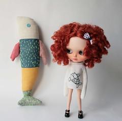 Aline, Cat Mermaid and Fish