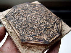 """JEWEL"" Woodcut-in-Progress 