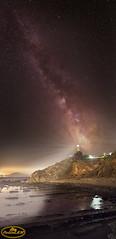 Vía Láctea en Faro de Algeciras (PictureJem) Tags: víalácteanoche night naturaleza landscape paisaje vertical