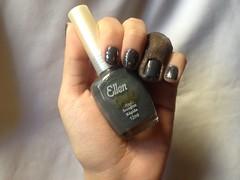 Fim de Noite (Ellen Gold) + Gems (Milani) (Daniela nailwear) Tags: fimdenoite ellengold cinza cremoso gems milani jewelfx glitter esmaltes esmalteimportado mãofeita