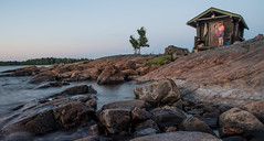 Late night swim (Mika Lehtinen) Tags: sun set sunset finnishsummer finland rocks sea water night blured long exposure midnight sauna bath