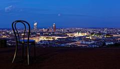 Lyon - France (Ludo_M) Tags: urban europe france city trip travel cityscape architecture bluehour panorama lyon longexposure dusk heurebleue jardindescuriosités canoneos5dmarkiv