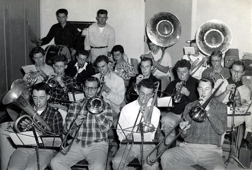Bill Weseloh, front row, second from left, with his trombone
