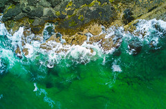 Waves crashing on the shore (Dhina A) Tags: dji mavic pro drone aerial photography f22 263mm northern ireland sea coastal north atlantic ocean