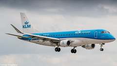 KLM Cityhopper E175 on short final for runway 27 (Nicky Boogaard) Tags: boeing airbus aviation dmaviation aircanada klmcityhopper aa americanairlines kalittaair deltaairlines 787 dreamliner easyjet a319 747 freigther 747400 777200 77w 7878 7879 embrear e175 jetairways united keniaairways