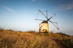 Windmill, Budens, Portugal. (sfrancis23) Tags: landscape windmill nikon d810 1424mm lee bigstopper sw150 blue orange grass sky portugal traditional travel longexposure nd grad