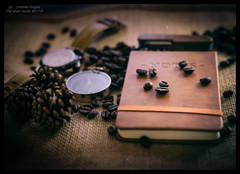 Record Your Finds...18/52 (kirby126) Tags: record finds coffee beans available light pjlimages 52week canon6d eos adventure notebook watch