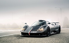 Up in the clouds. (Alex Penfold) Tags: pagani zonda matte black carbon absolute fog japan supercars supercar super car cars autos alex penfold