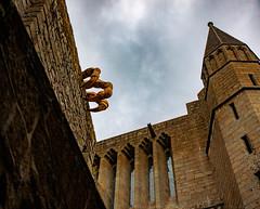 Giant claw, Mont Saint Michel (julesnene) Tags: bay bayofmontstmichel canon canon7dmark2 canon7dmarkii canonefs1755mmf28isusm france giant juliasumangil lemontsaintmichel mont montsaintmichel normandy unesco unescoworldheritagecentre unescoworldheritagesite abbey ancient art artinstallation commune fortification island julesnene landmark lowtide monastery rocky tidal travel normandie fr