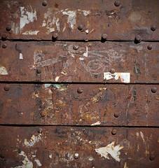 Firm fixture (Grooover) Tags: gate door slats lines bolts rust kotor montenegro grooover