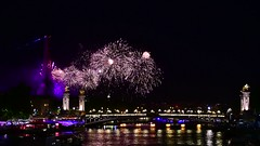 Quatorze Juillet Fireworks (Alexander JE Bradley) Tags: bastilleday fireworks fête national fetenational holiday pont alexandre iii eiffel tower tour latoureiffel feu dartifice laseine nikon d500 2470mmf28