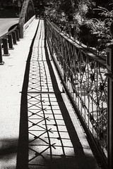 Have a great weekend! (WilliamND4) Tags: fencefriday hff blackandwhite nikon d810 shadow bridge vermont