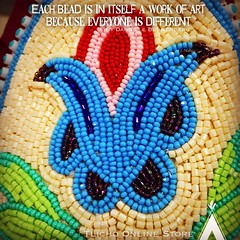 Each bead is in itself a work of art because everyone is different - Danielle Blumenberg. #Beautiful #Beadwork from #Alberta (Tlicho Online Store) Tags: beautiful beadwork alberta