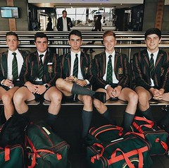 5 (cane4u) Tags: boy boys schoolboy schoolboys teenage teenager school uniform shorts socks tie blazer spanking discipline headmaster cp corporal punishment cane caning strap tawse paddle birch birching
