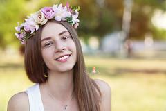 IMG_6900 (Galika_) Tags: teen girl long hair smile sunset sundown summer wreath flower portret memory natural naturallight white green canon 6d 85mm 8518 bulgaria
