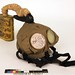 U.S. M1917 CE (Corrected English) Box Respirator Gas Mask with Instructions, World War I