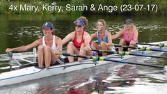 """4x 23-07-17 Kerry full (Big Warby) Tags: """"david warburton"""" """"big warby"""" bigwarby uk """"united kingdom"""" england """"great britain"""" cleveland """"river tees"""" stocktonontees """"north yorkshire"""" landscape outdoor reflections riverside sunny sunshine rowing sculling sculler river quad boat rower sunrise stockton"""