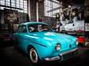 Renault Dauphine (1956-1967) (francis_bellin) Tags: bordeaux olympus couleur dauphine garage souvenirs mai communautaire 2017