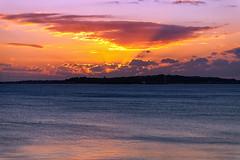 Sunset over Weymouth Bay (RichardBeech) Tags: weymouth dorset osmington sunset sundown evening landscape summer uk rays crepuscular sea seaside clouds canon5dmarkiii canon24105mm osmingtonmills