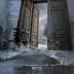 Tormenta (diablotinamarthi) Tags: agua mar tormenta puerta cielo photoshop montaje manipulación