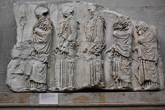Five Girls On The East Frieze, Parthenon (meg21210) Tags: bm britishmuseum parthenon ancient classical frieze procession eastfrieze girls columnar drapery london england uk greatbritain 447432bc greek art greece