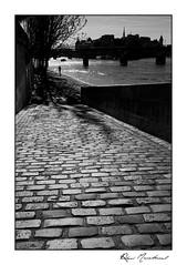 Les pavés (Rémi Marchand) Tags: noir et blanc black white paris seine îledefrance canon 5d iii pavés ombres quai rive droite contrejour mark