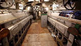WWll Submarine USS Batfish, Engine Room