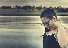 """My wife in the pose: """"Where is my earring?"""" (Rapha777) Tags: lovelyview rio barcos rancho thebanksofariver quietplace"""