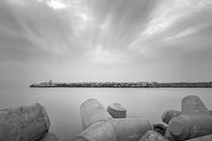 Serenity... (aestheticsguy2004) Tags: landsape longexposure blackandwhite sea seashore nikon nikonindia nikond750 india beach