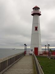 IMG_4268 Wawatam lighthouse with ferry boat (jgagnon63@yahoo.com) Tags: stignace saintignacemi uppermichigan wawatamlighthouse lighthouse greatlakes greatlakeslighthouses straitsofmackinac lakemichiganhuron