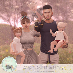 .Snap it. Our Little Family {AD} (Jany Bluebird) Tags: secondlife pose family avatar virtual children happy mom dad bebe baby poses