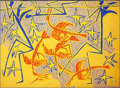 """""""Sans titre"""" Mode Muntu, exposition à la Cité Miroir, place Xavier Neujean, Liège, Belgium (claude lina) Tags: claudelina belgium belgique liège citémiroir bainsdelasauvenière exposition modemuntu peinture oeuvre dessin"""