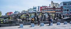 2017 - Korea - Jeju City - 4 of 12 (Ted's photos - For Me & You) Tags: 2017 cropped jeju korea nikon nikond750 nikonfx southkorea tedmcgrath tedsphotos vignetting bollards bridge cane shadows jejukorea