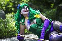 Fabyan Woods and Forest Preserve - Cosplay (Rick Drew - 19 million views!) Tags: cosplay costume fandom lady joker green makeup hair fabyan woods forest park fox river kane county illinois tree wet