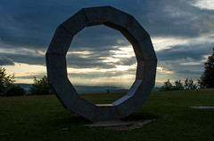 Heavens Gate, Wiltshire (Nathan McClatchey) Tags: heavens gate wiltshire england visitengland scenery landscape vista sunset cloudscape sculpture modernart stone art couple romance sky greenery countryside uk britain