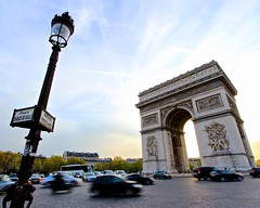 Arc de Triomphe (Alan Shmalan) Tags: arcdetriomphe paris trave france europe traffic sunset motion cars french tourist landmark arch street blur motionblur