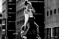 Street - DIY Sunglasses (François Escriva) Tags: street streetphotography paris france candid people olympus omd girl man father daghter sunglasses diy fun funny sun light