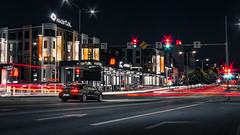Through The Night (Sulev Lange) Tags: car cartrails light lighttrails traffic city night town street road architecture urban