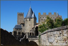 Castillo de Carcasona (Francia, 1-8-2011) (Juanje Orío) Tags: francia carcasona 2011 castillo castle fortaleza fortress monumentohistóricodefrancia patrimoniodelahumanidad worldheritage whl0345 europe europeanunion europa medieval