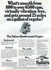 1974 Subaru Advertising Road & Track February 1974 (SenseiAlan) Tags: 1974 subaru advertising road track february