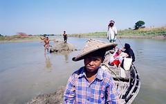 khea maji (bimboo.babul) Tags: river boatman transport bangladesh village children