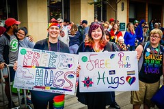 FREE HUGS FROM PAN PRIDE (panache2620) Tags: hugs pride panpride minneapolis minnesota free eos canon canon70d colorful fun parade crowds city urban metropolis