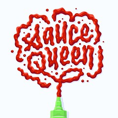 Sauce Queen (Kyle J. Letendre) Tags: sriracha condiment sauce lettering illustration hot suace hotsauce chili paste illustrated lettered letter letters type typography liquid