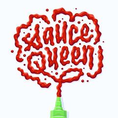 Sauce Queen (Kyle J. Letendre) Tags: sriracha condiment sauce lettering illustration hot suace hotsauce chili paste illustrated lettered letter letters type typography liquid