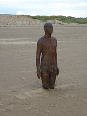 Crosby Beach- Anthony Gormley's Another World (opalpics) Tags: crosbybeach anotherworld anthonygormley statues beach crosby figures metal water men buried sand