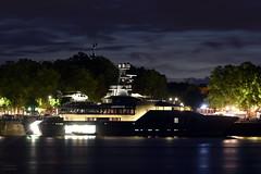 M/Y SKAT by night (christianlaverdet) Tags: boat yacht skat garonne bordeaux quinconces eurocopter ec135 nuit night quai